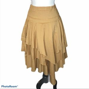 Eco-ga'nik Organic Cotton Tiered Vtg Skirt Sz S